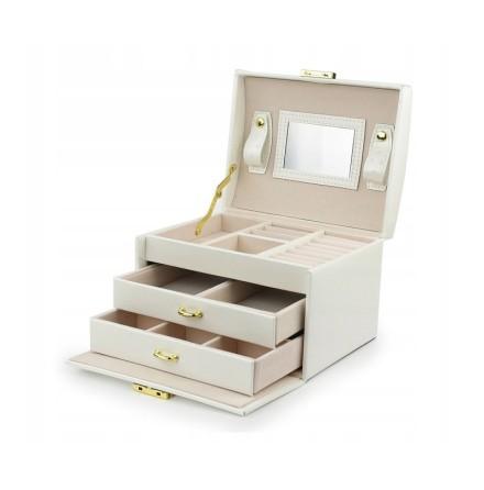 Vit Smyckeslåda/Juvelbox