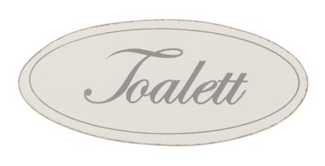 "Dörrskylt ""Toalett"""