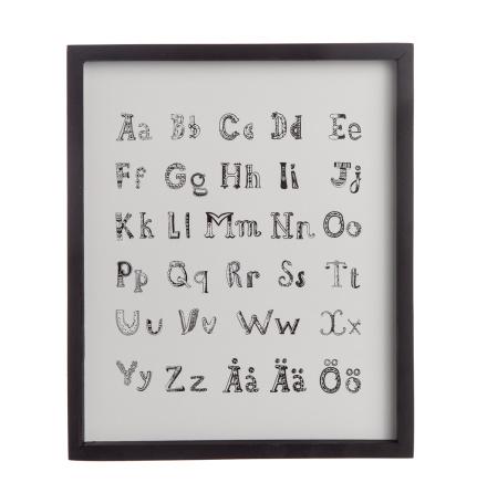 Alfabetstavla i trä