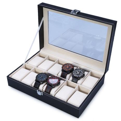 Klocklåda / Klockbox för 12 klockor med Fönster