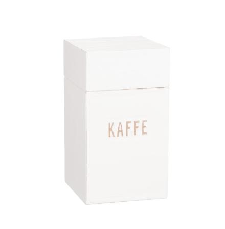 """Kaffeburk i trä med text """"Kaffe"""""""