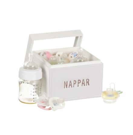 """Trälåda """"Nappar"""" med glaslock"""