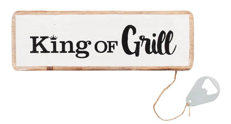 Skylt King of grill