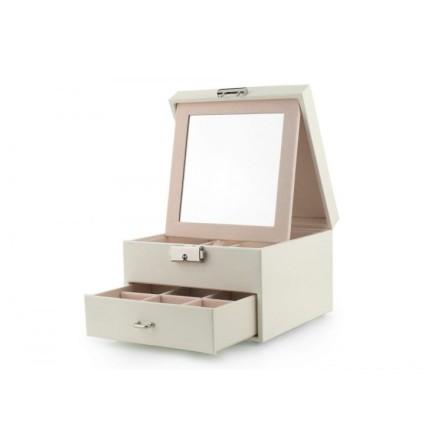Mintgrön Smyckeslåda/Juvelbox med spegel