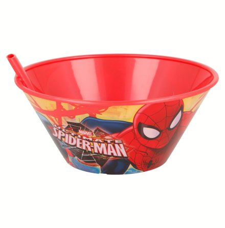 Skål med sugrör Spindelmannen