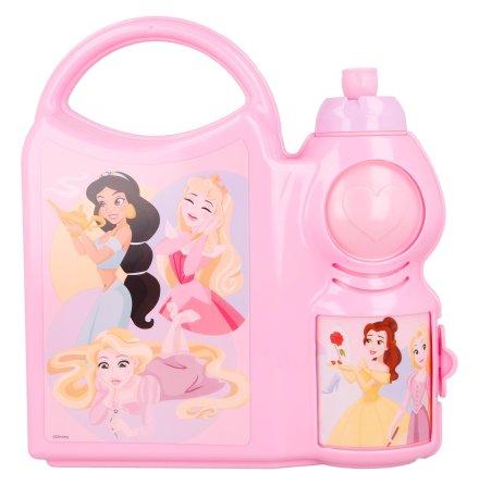 Matlåda med vattenflaska Prinsessor
